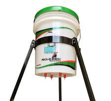 Lot of 4 Peckomatic (Peckomatick) Poultry Drinker & Tripod 5-Gallon Pail Stand