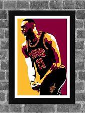 Cleveland Cavaliers Lebron James Portrait Sports Print Art 11x17