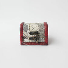 1/6 Scale Chest Pirate Treasure Box Wood Rustic Classical Style Model Mini Toys