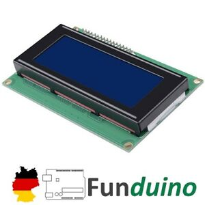 I²C LCD 16x02 mit I2C Bus - für Arduino/Funduino/Raspberry Pi Mikrocontroller
