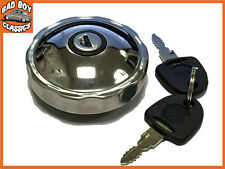 Locking Polished Stainless Steel Fuel Petrol Cap CORTINA MK3 MK4 MK5 1970>