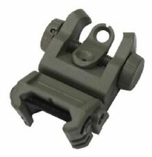 TRS IMI Defense Green Polymer Tactical Rear Flip Up Backup Sight Fits Any Rail