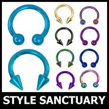 Titanium Circular Barbell Eyebrow Ear Lip Nose Tragus Nipple Horseshoe Bar Ring