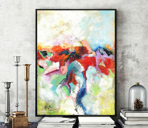 Prints,Posters,Canvas,Colorful Modern Abstract Art Original Painting Large Decor
