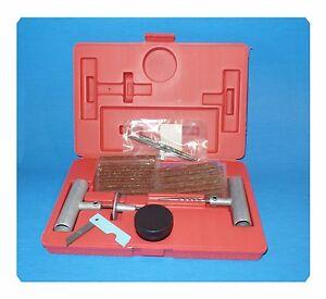 Rouge Boite Pneu Réparation Corde Kit Droite Auto Léger Camion