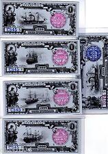 LOT SET SERIE 5 BILLETS Antarctica 1 DOLLAR 1999 ( 2004 ) 4 saisons NEUF UNC