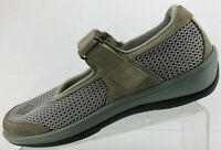 Orthofeet Chattanooga Mary Jane Grey Brwn Diabetic Therapeutic Flats Womens 10 B
