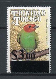 Trinidad & Tobago 2017 MNH Birds Tanager $3.00 OVPT 1v Set Stamps