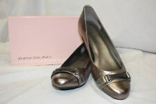 "BANDOLINO Bronze Leather ""Jacey"" Round Toe Wedge Heels Womens Size 10M-B80"