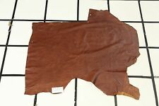 """Burnt Tres Leches Cake"" Brown Scrap Leather Hide Approx. 6 sqft. G31M16-7"