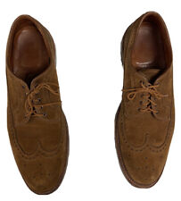 Alden X J.Crew Suede LWB Shoes Men Size 12 B/D  Brown Barrie