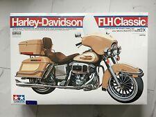 TAMIYA 1/6 HARLEY-DAVIDSON FLH CLASSIC MOTORCYCLE PLASTIC MODEL KIT # 16040 F/S