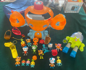 Octonauts Octopod Gup Vehicles Octo Max Suit and Figures Lot with Accessories