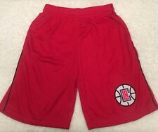 Majestic NBA Los Angeles Clippers Mesh Pipe Basketball Youth Shorts Red Size S
