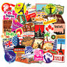 Lot 100Pcs Travel Vinyl Laptop Skateboard Stickers Bomb Luggage Decals Dope Pack