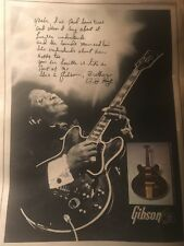 Vintage B.B. King Blues LUCILLE Gibson GUITARS ADVERTISEMENT Poster  Pinup QUOTE