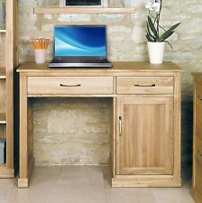 Mobel solid oak home office furniture small single pedestal study computer desk