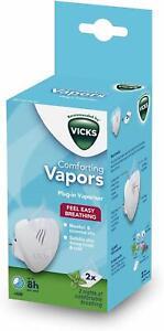 Vicks Comforting Vapors Plug-In Vaporiser Menthol & Essential Oils  VICVH1700