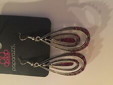 Paparazzi Earrings (new) Kiss Me In The Rain Red