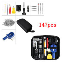 147Pcs Watch Repair Tool Kit Watchmaker Back Case Battery Cover Remover Opener k