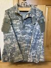 US Military Issue Universal Camo Tactical ACU Coat 8415-01-519-8607 Large Long