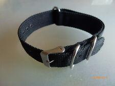 Rundrig  Durchzugsband Nylon 20 mm schwarz NATO BAND  textil