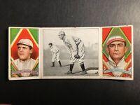 1912 Hassan Triple Folders T202 #76 Jake Stahl Guarding 1st Edward Cicotte G-G+