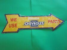 tin metal decor gas oil dealer garage repair shop advertising chevrolet m339