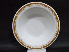 """Bristile Rimmed Bowl vgc brown zigzag indented band pattern & line (6"""") 1981"""
