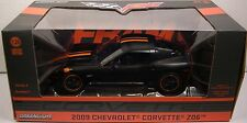 GREENLIGHT DIECAST METAL 1:24 SCALE MATTE BLACK 2009 CHEVROLET Z06 CORVETTE