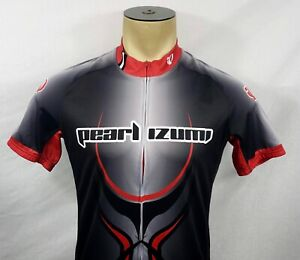 Mens Pearl Izumi black & red full-zip s/s cycling jersey Large