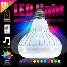 12W E27 LED RGB Color Bulb Wireless Bluetooth Smart Music Speaker Light Lamp