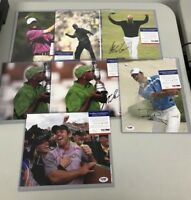LOT (7) Assorted Golf Signed 8x10 Photos AUTO Autograph PSA/DNA COA w/ Palmer