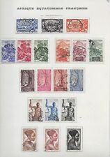 Lot timbres oblitérés Afrique Equatoriale Française Du N° 208 au N°245