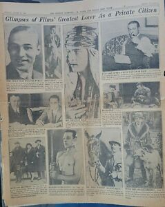 3 full pages Rudolph VALENTINO Tributes 8/24/1926 Los Angeles Examiner