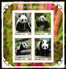 Gigante Panda Nuovo senza Linguella Imperf. Souvenir Foglio 大熊猫 Delhi1