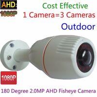 2.0MP HD 1080P CCTV wired AHD Camera 180 Degree Security 12pcs IR Bullet camera