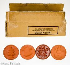 Christmas Cookie Stamp Set 4 Terra Cotta Xmas/Winter Themed Cookie Dough Press