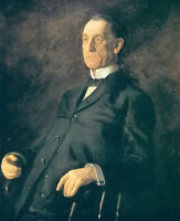 """Oil painting thomas eakins - portrait of asbury w lee no framed canvas 24""""x36"""""""