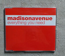 "CD AUDIO INT / MADISON AVENUE ""EVERYTHING YOU NEED"" CD MAXI-SINGLE PROMO 3T 2000"