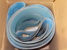 "10 new NORTON 4"" x 132"" R823-NA NorZon Plus Plyweld Grit 60 Sanding Belts 63194"