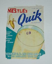 1960's Nestle Banana Quik Label Canadian