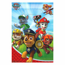 PAW PATROL FAVOR BAGS (8) ~ Birthday Party Supplies Plastic Treat Loot Goody