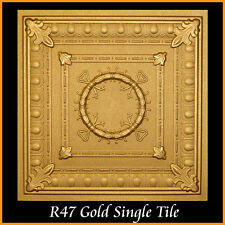 Polystyrene Glue Up Ceiling Tiles 20x20 R47 Gold Pack of 8