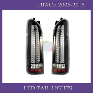 For TOYOTA Hiace 200 Commuter Van 2005-2017 Full LED Tail lights Rear Brake Lamp