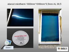 selektiv beschichtetes Solarblech - 1000*1999*0,5mm - alanod mirotherm