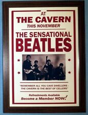 """The Beatles Cavern Poster Reproduced A4 """"12x8"""" Framed Classic Photo Print"""