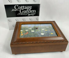 Cottage Gardens Jewelry Music Box Wooden Can You Feel The Love New in Box Roman