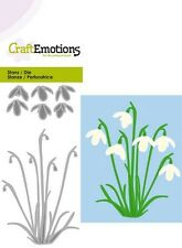 Craft Emotions Cutting Dies - Snowdrops - Spring -  0184 - New
