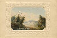 Thomas Perrott Hamilton, Picturesque Landscape – 1827 watercolour painting